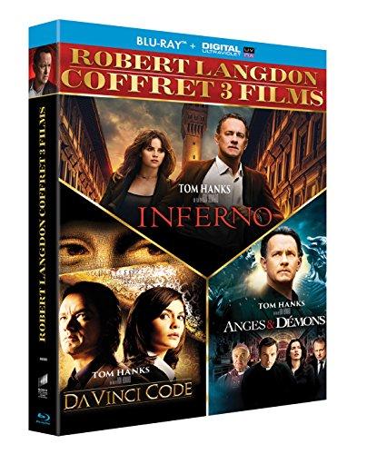 Robert Langdon - Coffret 3 films : Da Vinci Code + Anges & démons + Inferno [Blu-ray + Copie digitale]
