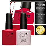 CND Shellac 7,3 ml Topseller-Duo Wildfire + Romantique - UV Nagellack Sparpack - 20% Rabatt
