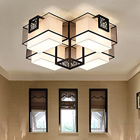 Semplice stanza vivente soffitto lampada luce antico ferro battuto sala da pranzo camera da letto luci quadrato led
