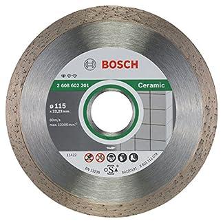 Bosch 2 608 602 201 – Disco tronzador de diamante Standard for Ceramic – 115 x 22,23 x 1,6 x 7 mm (pack de 1)