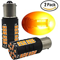2-pack 1056BAU15S 7507124961156PY estremamente luminoso ambra/giallo non-polarity Canbus senza codice di errore lampadina LED indicatore di direzione Blink–senza bisogno di resistenze di carico a Fix LED Lampadina Fast Hyper flash