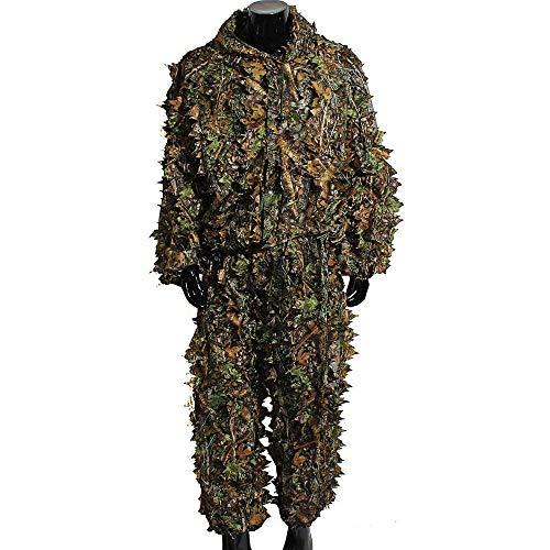 Poser Ghillie Suit Camo 3D Waldland Camo Dschungelblatt Tarnanzug Jagdanzug Armee Airsoft Schießen Halloween Für Erwachsene (Farbe : Bionic)