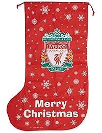 Liverpool FC - Calcetín de regalos navideños Tamaño gigante - Novedad ...