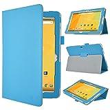 Acer Iconia One 10 (B3-A20) Schutzhülle,IVSO hochwertiges PU Leder Etui hülle Tasche Case - mit Standfunktion, super 360° Anti-Wrestling, ist für Acer Iconia One 10 (B3-A20) 25,7 cm (10,1 Zoll) Tablet-PC perfekt geeignet, Blau