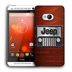 Snoogg Jeep Designer Protective Back Case Cover For HTC ONE M7