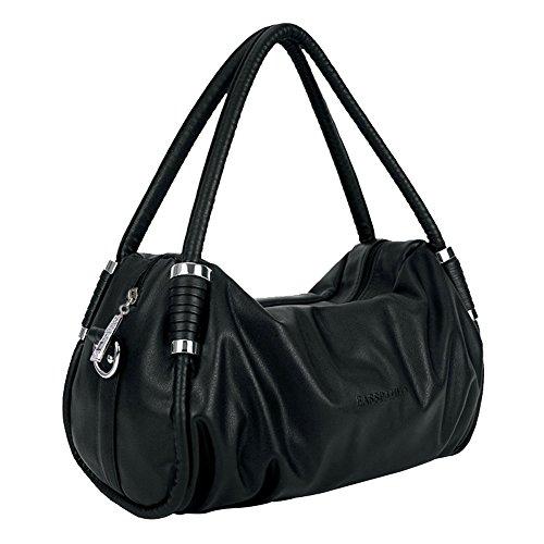 SHUhua europäischen & amerikanischen Mode Frauen Dumping Tasche Leder Top-Griff Bag-schwarz (Tommy Hilfiger Tan Tasche)