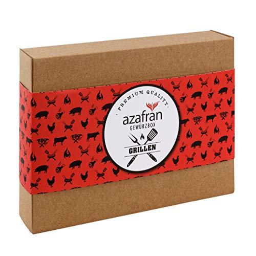 Azafran BBQ Gewürz Geschenk – Geschenkset Grillen mit 4 Gewürzen