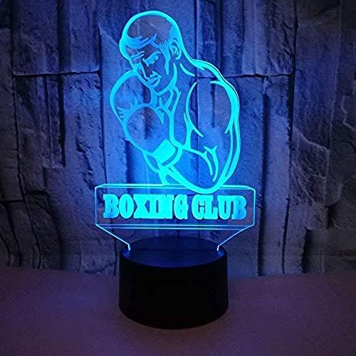 Kreative 3d boxer nacht lampe art deco lampe lichter led dekoration lampen touch control 7 farben ändern nachtlicht usb powered kinder geschenk jahrestag weihnachtsgeschenke usb wiederaufladbare fra -