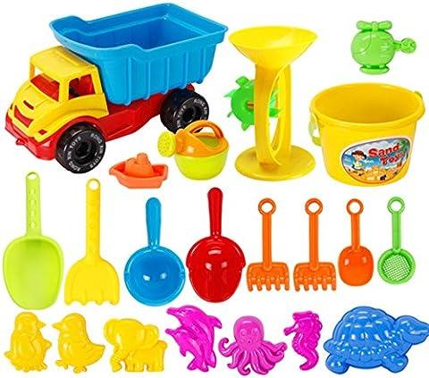 Strand Spielzeug, Chickwin Kinder Spiele im Freien Strand-Sand-Set Spielzeug Lernspielzeug (21 Pcs)