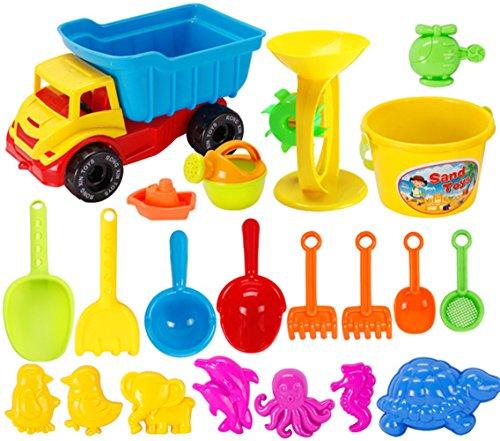 Preisvergleich Produktbild Strand Spielzeug, Chickwin Kinder Spiele im Freien Strand-Sand-Set Spielzeug Lernspielzeug (21 Pcs)