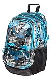 Baagl Kinderrucksack für Jungen, Schulranzen für Kinder mit ergonomisch geformter Rücken, Brustgurt und reflektierende Elemente (Freestyle)
