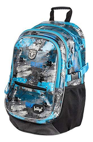 Baagl Schulrucksack für Jungen - Schulranzen für Kinder mit ergonomisch geformter Rücken, Brustgurt und reflektierende Elemente (Freestyle)