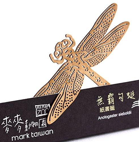 dosee-design-mark-taiwan-taglio-della-carta-segnalibro-insetti-volanti-serie-libellula-marrone