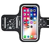 【Ciel Etoilé】Brassard Sport iPhone 7/8/X/6/6s/5 Samsung S7/S6/S5/S6 edge jusqu'à 5.3 Pouces Touche Ecran Flexible, Anti-Glisse, Couture Précise-Matière Ecologique Inodore Anti-Sueur, Bande Elastique et Stable pour tous Les Bras de 25.5cm à 37.8cm, Porte-clé et 5 Port-écouteur, 5.3' compatible pour Huawei P9/Lite P8/P8 Lite, Samsung A5, etc.