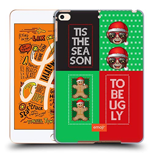 Head Case Designs Offizielle Emoji® AFFE Hässliches Weihnachten Harte Rueckseiten Huelle kompatibel mit iPad Mini (2019)