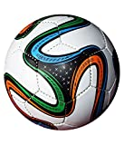 #4: Adidas ADIDG736175 Brazuca Fifa 2014 World Cup Official Match Soccer Ball, Size 5 (Multicolour)