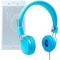 DURAGADGET Auriculares De Diadema Color Azul Para Smartphone Sony Xperia XZs , XZ Premium , XA1 , XA1 Ultra / Denver SDQ-55024L , SDQ-50002G , SBQ-50011G ...