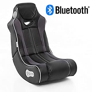 Wohnling® Soundchair Cheater in Schwarz mit Bluetooth   Musiksessel mit eingebauten Lautsprechern   Multimediasessel für Gamer   2.1 Soundsystem - Subwoofer   Music Gaming Sessel Rocker Chair