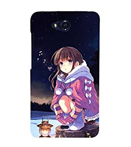 Fuson Designer Back Case Cover for Micromax Canvas Play Q355 (Winter Cute girl gorgeous Girl Prretty Girl Stunning Girl)