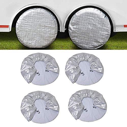Lucky-all star 4 Teile/Paket Auto Reifenabdeckung, gemalt Schild Oxford Bauch Baumwolle Reifen Schutz für 27 bis 29 in RV, Anhänger, Camper, Autos, LKW (Reifen Teil Auto)