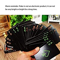 Swiftswan Night Lights Fluorescent Playing Cards Professional Chess Playing Cards Darts Children Intellectual Games For Adults