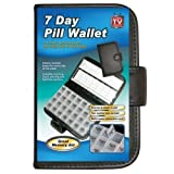7 Days Pill Organiser Pill Box 28 Compartment Pill Box With Pill Wallet