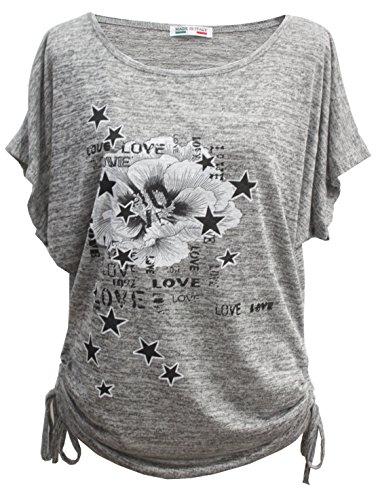 Emma & Giovanni Sommer T-Shirt/Oberteile Kurzarm - Damen (# Grau, L/XL)