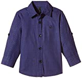 #6: United Colors of Benetton Baby Boys' Shirt (15A5DU65Q200G903_Blue and Black Check_1Y)