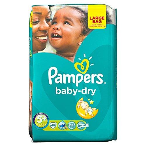 Pampers Baby Trocken Größe 5 + Junior Plus 13-27Kg (48)