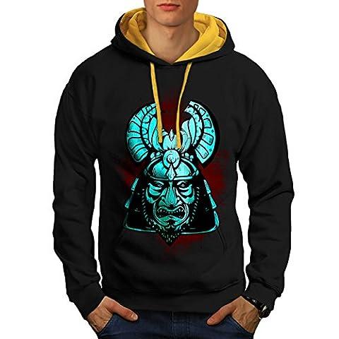 Fantasy Samurai Unique Men NEW Black (Gold Hood) M Contrast