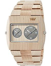 WeWOOD reloj madera/madera Jupiter RS beige doble tiempo 9818071 hombre