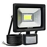 MEIKEE 20W Security Lights with Motion Sensor,Outdoor PIR Sensor Lights,LED Motion Sensor Floodlight,Waterproof Security Light, Outdoor LED Flood Lights,2000 Lumen, Daylight White [Energy Class A++]