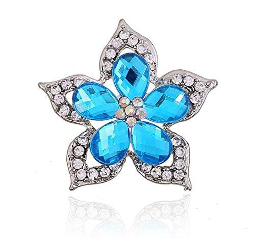 Cdet Brosche Retro Bunte Blume Legierung DEK Frauen Brosche/Herren Brosche Anzug Brooch/Hochzeit Dekoration/Geburtstags Geschenk Pin Size 4.7 * 4.7CM (Blue Flower) (Blue Anzug Christmas)