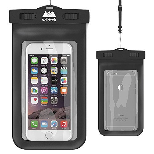 Universal Waterproof iPhone Case by wildtek. For iPhone 6 6 plus 5 5s 4 Samsung Galaxy S4 Samsung Note GPS mp3 player passport. Also works as a waterproof wallet. Touch responsive front and back...devices are fully usable in the case. Dust Proof Waterproof Snow Proof Freeze Protection. Durable eco-friendly construction and IPX8 Certified to 100ft. Lifetime Warranty.