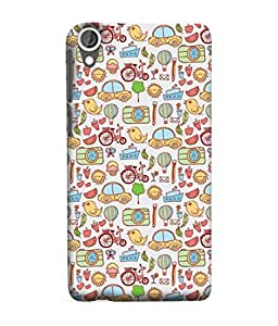 Snapdilla Designer Back Case Cover for HTC Desire 825 (Wallpaper Backcover Pouch Background Ship Leaf Camera Tree)