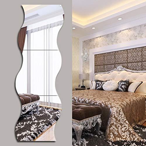 Espejo- Espejo de Cuerpo Entero Espejo de Montaje Curvo   Espejo de Costura sin Marco Creativo de Moda   Espejo de Armario de Pared Colgante Dormitorio JING0510