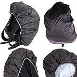 Protection anti-pluie noire pour sac à dos Eastpak modèles Out of office, Pinnacle, Egghead et tutor - chiffon microfibre bonus offert - DURAGADGET