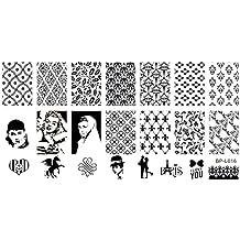 XL di stampaggio Stencil 12,6x 6,5cm #