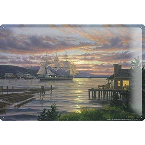 Cartello Targa In Metallo Cucina Nave Arredamento allenatore barche a vela 20X30 cm - Nave Tin