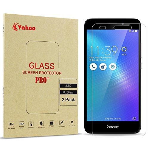 Honor 5C Displayschutzfolie, Vakoo Panzerglas Folie Schutzfolie Hartglas 9H Panzerfolie Glasfolie für Huawei Honor 5C (2-Stück)