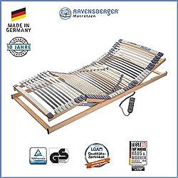 Ravensberger Matratzen® Medimed® Lattenrost | 7-Zonen-Buche-Lattenrahmen | 44 Leisten| elektrisch| MADE IN GERMANY - 10 JAHRE GARANTIE | 90x200 cm