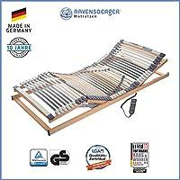 Ravensberger Matratzen Medimed Lattenrost | 7-Zonen-Buche-Lattenrahmen | 44 Leisten| elektrisch| MADE IN GERMANY - 10 JAHRE GARANTIE | TÜV/GS 90x200 cm