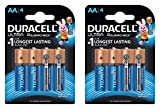 Duracell Ultra Alkaline Camera Battery AA with Duralock Technology and PowerCheck (8 Pieces)