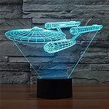 SmartEra Star Trek Battleship 3D Optische Täuschung Mehrfarbig ändern Berühren Sie Botton Schreibtischlampe Tischleuchte