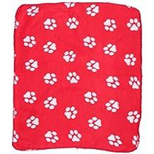 ueetek toalla de polar doble cara alfombra suave para perro manta para perro, perro,
