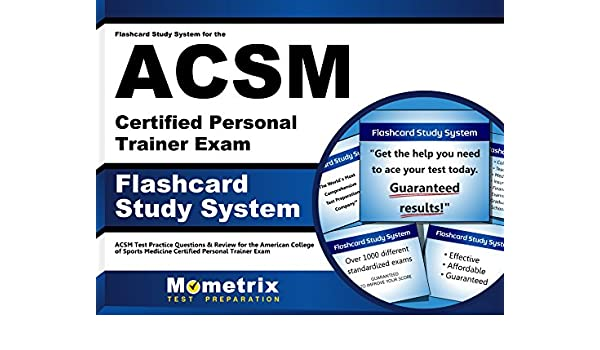 buy flashcard study system for the acsm certified personal trainer ...