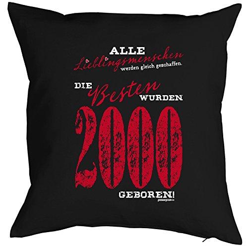zum 18. Geburtstag Geschenkidee Kissen mit Füllung Lieblingsmensch 1999 Polster zum 18 Geburtstag für 18-jährige Dekokissen mit Urkunde - 2