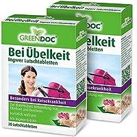 GreenDoc Bei Übelkeit Ingwer Lutschtabletten (2er Pack) | Bei Übelkeit, Brechreiz und Reisekrankheit preisvergleich bei billige-tabletten.eu
