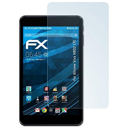 atFolix Schutzfolie kompatibel mit Allview Viva H802 LTE Folie, ultraklare FX Bildschirmschutzfolie (2X)