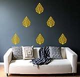 Decor Villa Bengali Golden Motif Wall St...